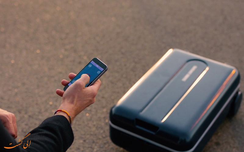 کنترل چمدان هوشمند با موبایل