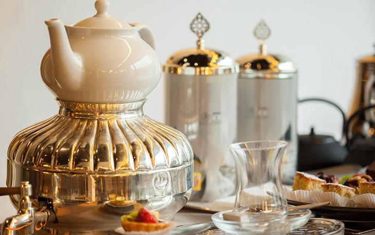 غذای ترکیش ایرلاین و سرویس چای