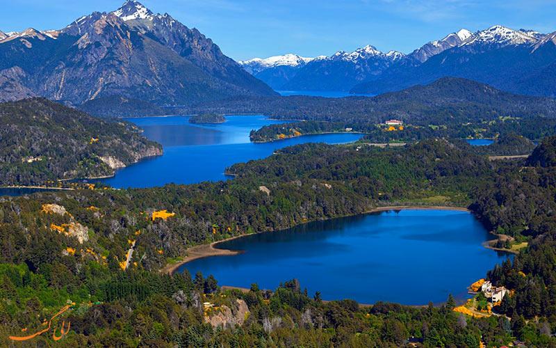 منطقه ی دریاچه ی باریلوش، یکی از مسیرهای گردشگری آرژانتین