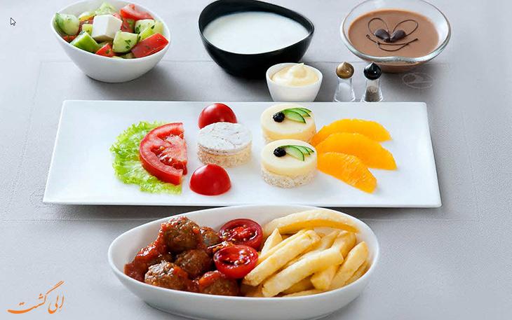 منوی ویژه غذای ترکیش ایرلاین
