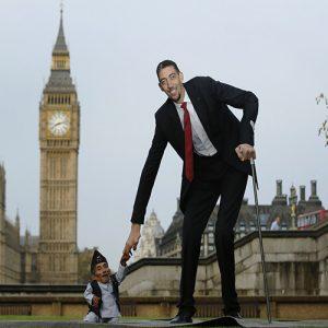 قد کوتاه ترین افراد جهان
