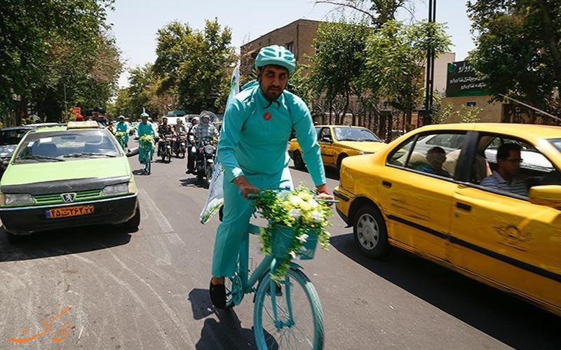 دوچرخه سواری در تهران