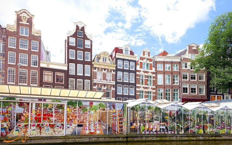 بازار-گل- هتل تروپن آمستردام