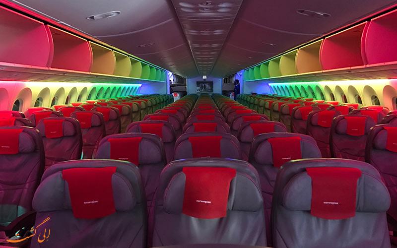 کلاس های پروازی شرکت هواپیمایی نروژ ایر