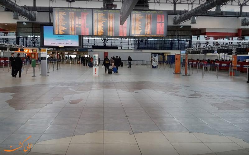 بخش های مختلف فرودگاه پراگ