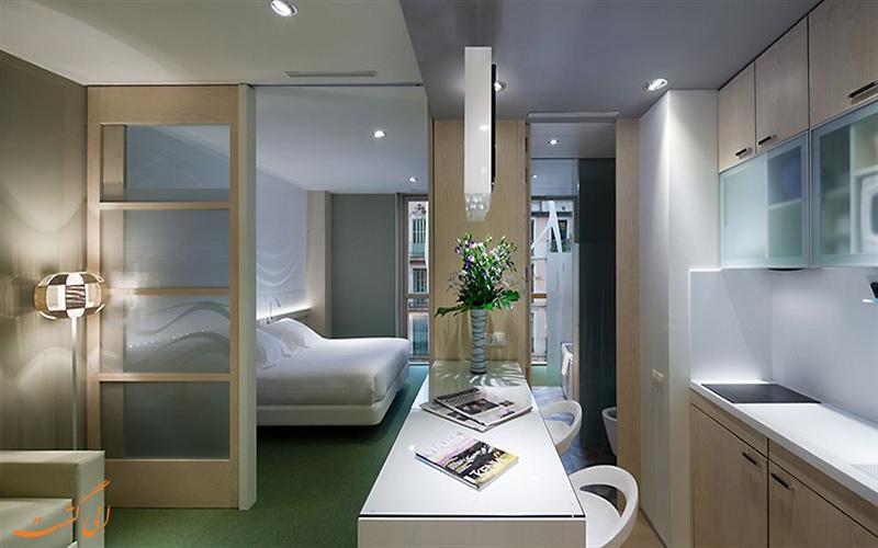 امکانات آپارتمان های هتل آکو سوئیت بارسلونا