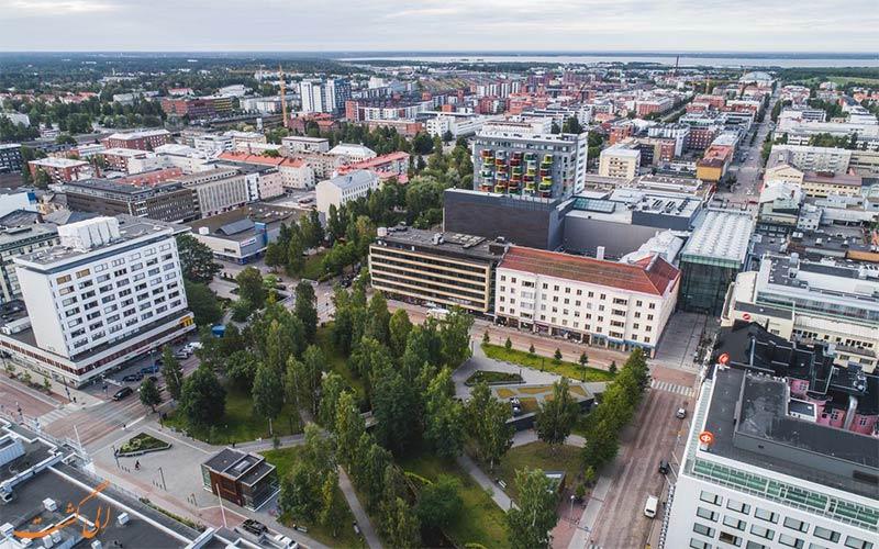 Forenom Aparthotel Oulu Uusikatu- eligasht.com نمای پرنده هتل