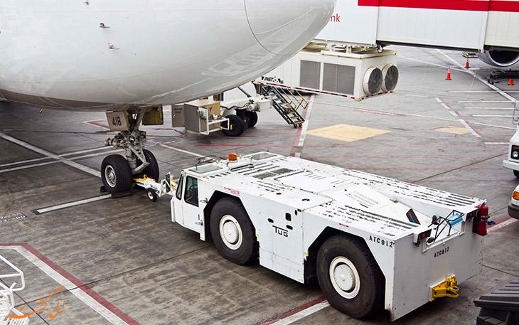 یدک کش پوش بک برای دنده عقب هواپیما