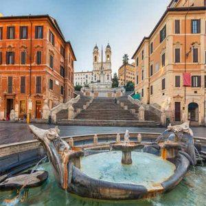 پله های اسپانیایی در رم