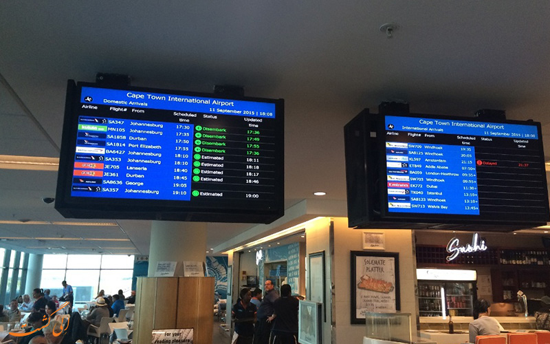 اطلاعات فرودگاه بین المللی کیپ تاون