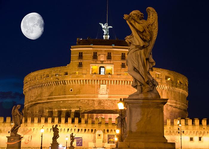 قلعه سنت آنجلو رم در شب