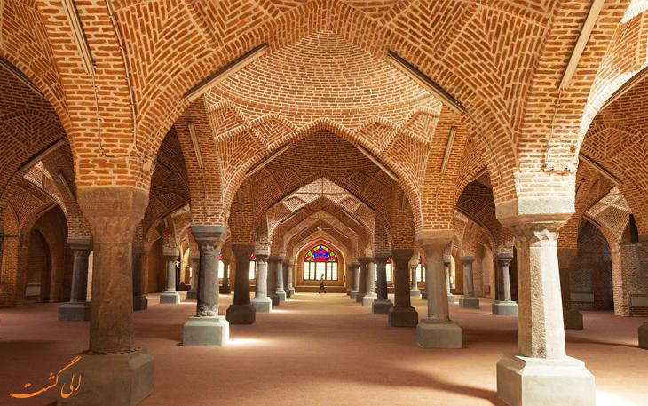 نمایی از مسجد جامع تبریز، جاذبه های گردشگری تبریز از دوران سلجوقیان