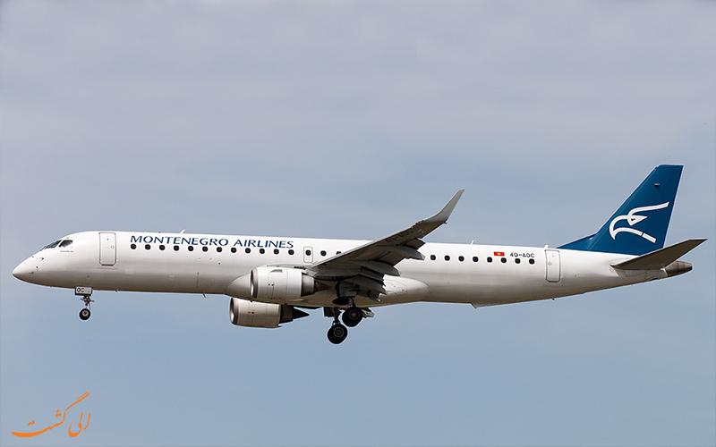 آشنایی با شرکت هواپیمایی مونته نگرو ایرلاینز