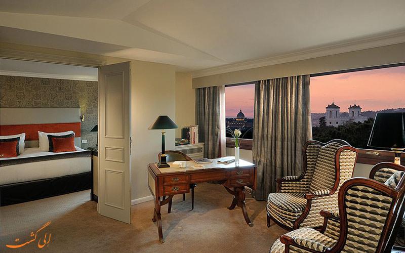 امکانات اتاق های هتل سوفیتل رم