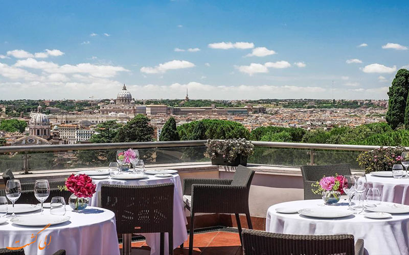 Sofitel Roma Villa Borghese- eligasht.com نمای شهر از تراس