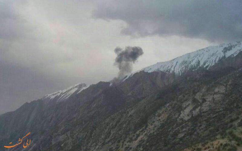 صحنه ای از سقوط هواپیما