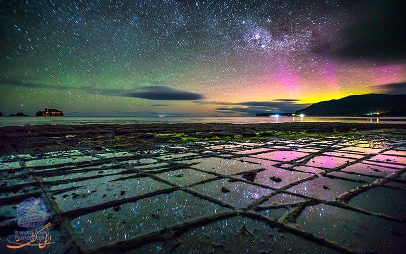 موزاییک های تاسمان استرالیا در شب