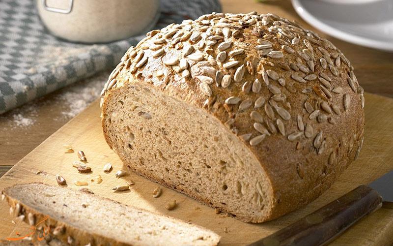 نان دانه ی آفتاب گردان