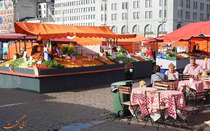 کافه های بازار هلسینکی