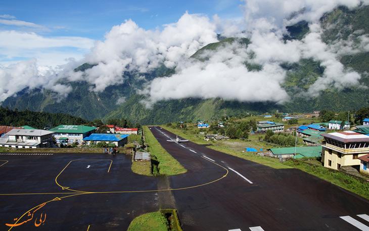 منظره فرودگاه لوکلا