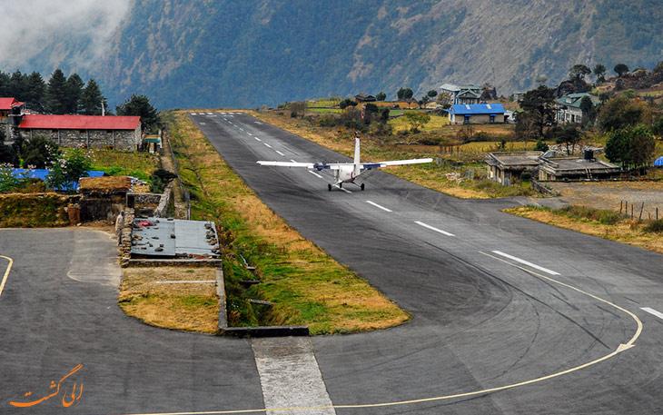 عکس فرودگاه لوکلا در نپال