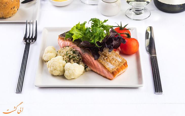 ماهی و کلم در هواپیمایی سنگاپور