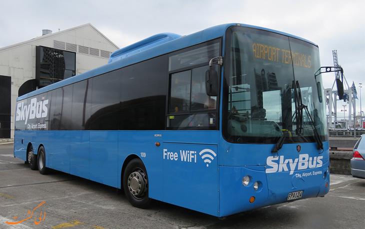 اتوبوس اسکای باس در حمل و نقل فرودگاه اوکلند