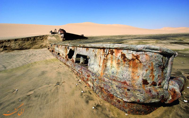 ساحل اسکلت نامیبیا | کشتی سایدرکاس