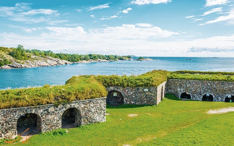 بخشی از قلعه سومنلینا فنلاند