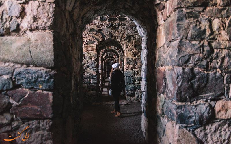 داخل قلعه سومنلینا فنلاند