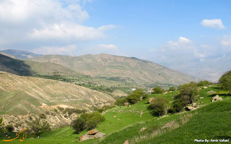 نمایی زیبا از دشت آزو - عکس از امیرعباس وفائی