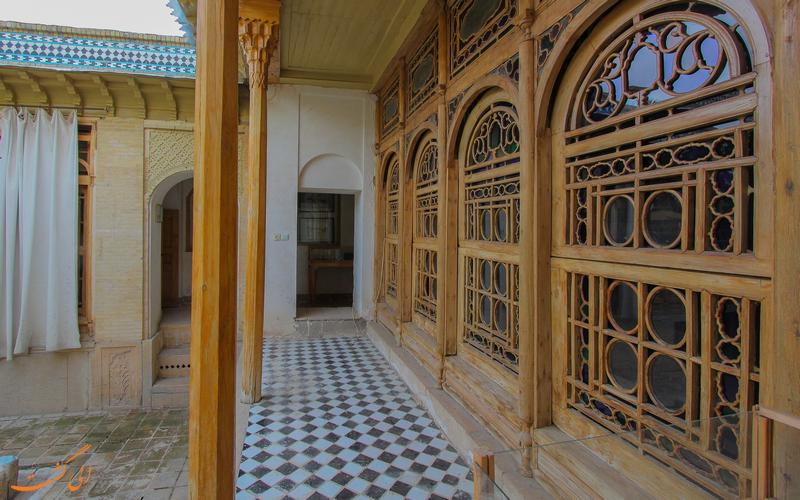 خانه فروغ الملک شیراز - موزه هنر مشکین فام
