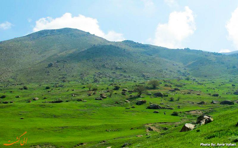 دشت سرسبز آزو - عکس از امیرعباس وفائی