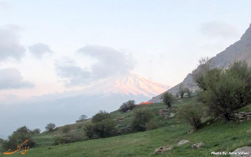 دورنمای قله دماوند - عکس از امیرعباس وفائی
