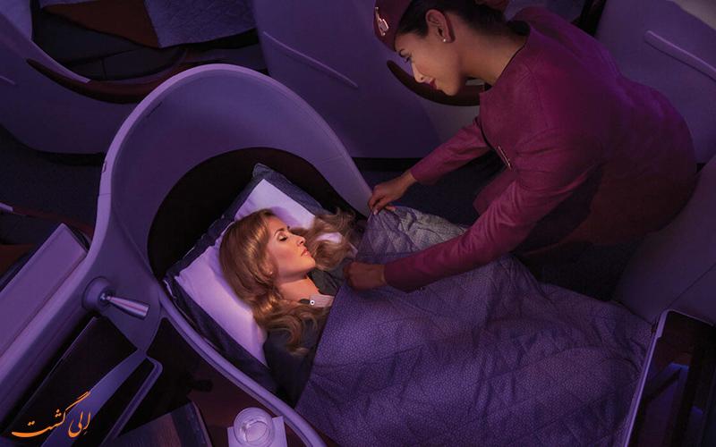 پروازهای بیزینس کلاس شرکت هواپیمایی قطر ایر ویز