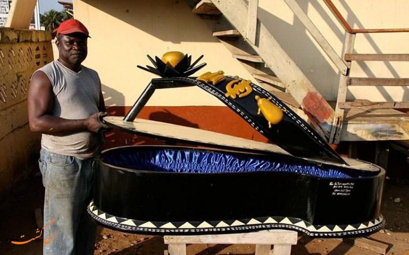 تابوت های عجیب در غنا