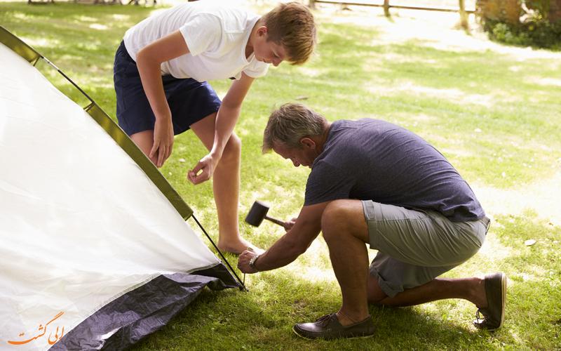 برپایی چادر در سفرهای کمپینگ-نکات مفید در کمپینگ