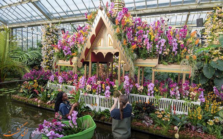 بزرگترین باغ گیاه شناسی جهان کیو در لندن
