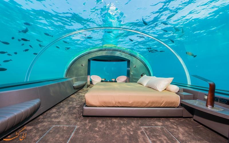 اولین ویلای زیر آبی جهان