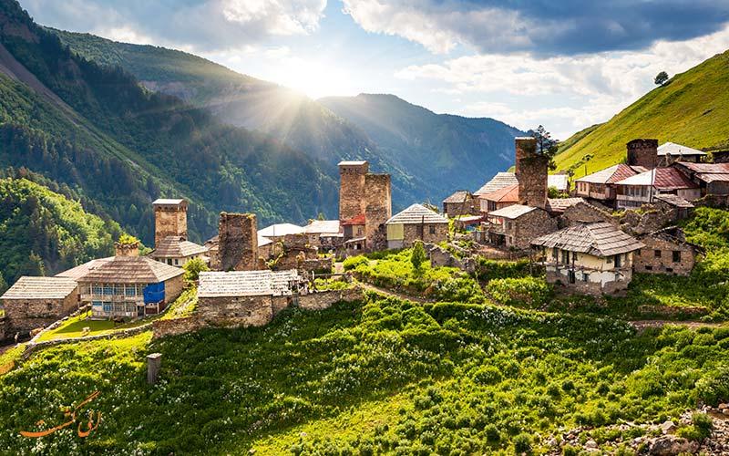 روستاهای رشته کوه های قفقاز