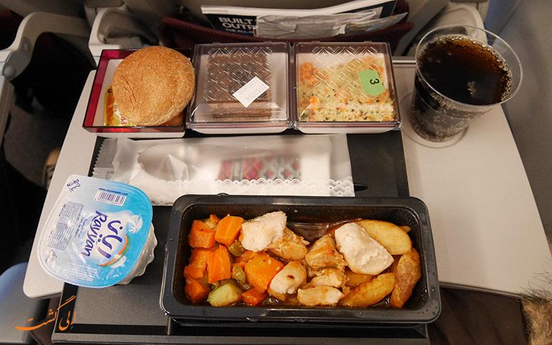 غذاهای هواپیمایی قطر
