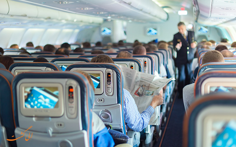 صندلی های یک هواپیما