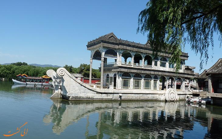 قایق سنگی در کاخ تابستانی پکن