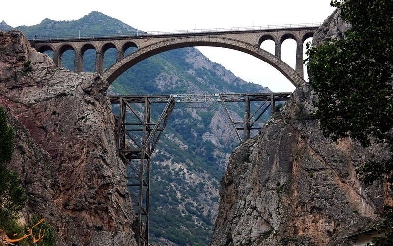 پل ورسک جاذبه های دیدنی مسیر تهران سوادکوه