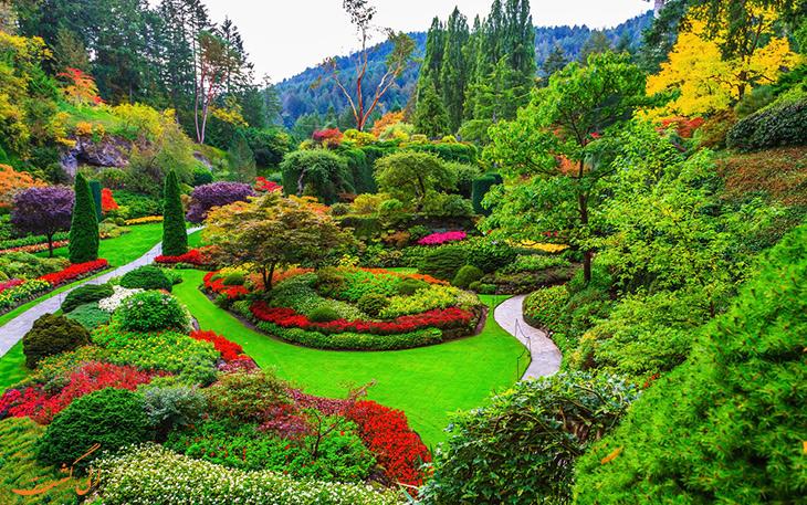 باغ های بوچارت کانادا