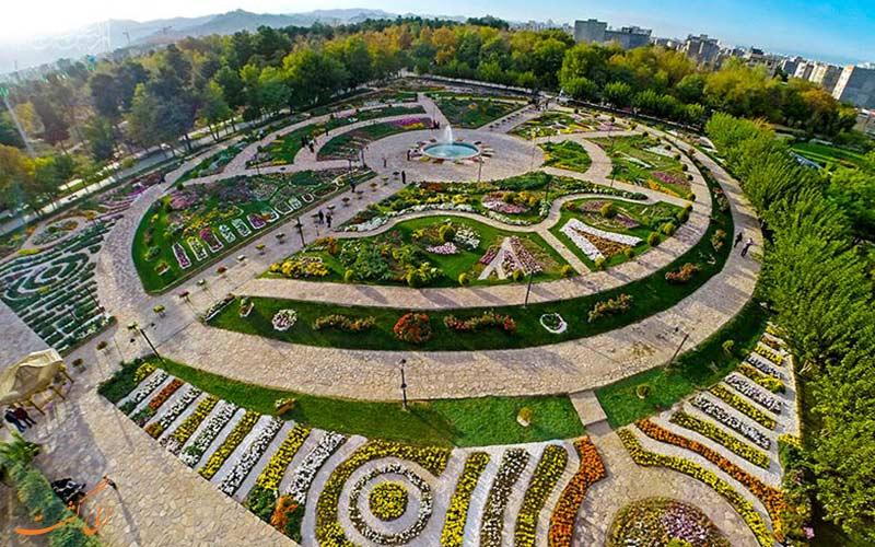 نمایی هوایی از باغ بوتانیکال مشهد