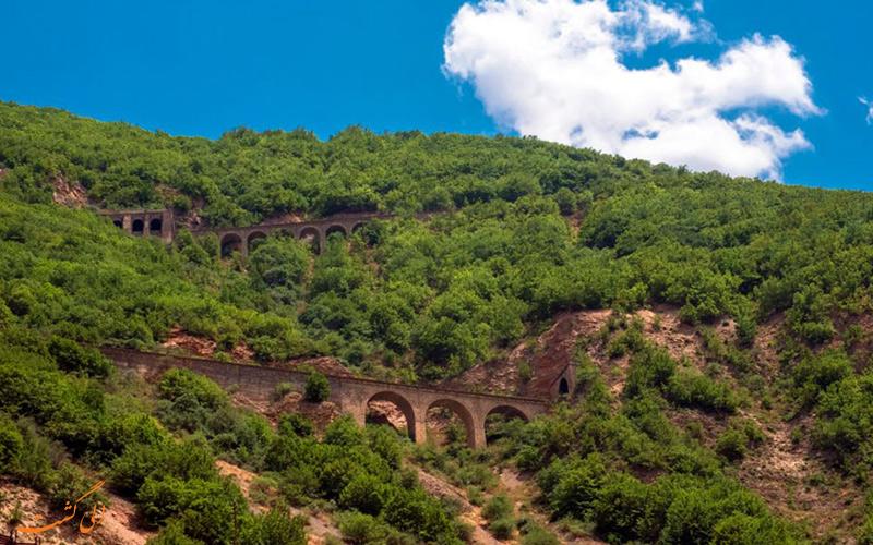 پل های مسیر قطار گردشگری تهران شمال