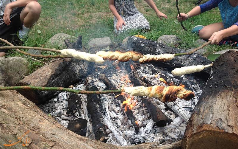 پخت غذا در طبیعت