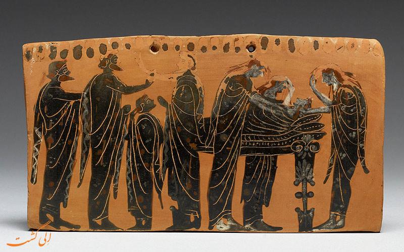 تدفین یونانی ها