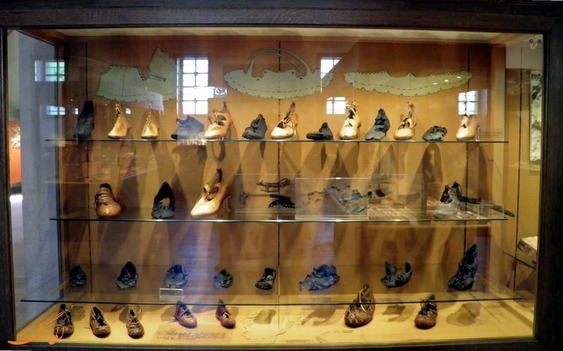 کفش های باستانی موزه سالبورگ آلمان
